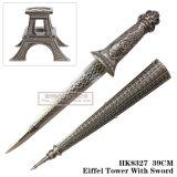 Металл Эйфелевы башни производит домашнее украшение 25cm HK8327