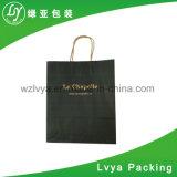 Kundenspezifisches Luxuxdrucken gedruckte Packpapier-Einkaufen-verpackenträger-Geschenk-Papiertüten für das Packen mit Griffen
