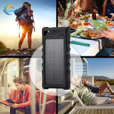 Banco de potência à prova de telefone móvel USB duplo Carregador Solar