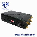 Jammer Handheld selecionável do sinal do telefone de WiFi GPS Lojack de 6 antenas