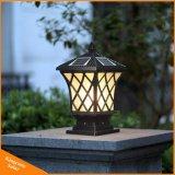 Luz solar al aire libre del jardín de la luz de la luz solar solar del pilar