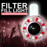 Luz do anel de Selfie da suficiência do diodo emissor de luz do USB com lente (LENTE de RK)