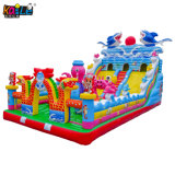 Venda a quente Cartoon Shark Dragon Bouncer inflável trampolim Jumping Castle