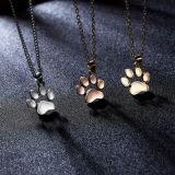 EUR-American jóias populares animais fofos Cat Paw Colar Pendente
