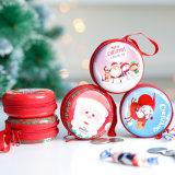 Fermeture à glissière de Noël Boîte ronde mini boîtes de conserve