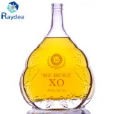 bouteille en verre de 1000ml Xo en glace claire superbe