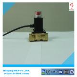 Solenóide de gás com válvula de detecção corpo de latão cor de níquel BCT-SV-1