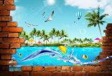 Peinture à l'huile 3D à la décoration intérieure avec animaux Photos