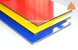 Hoja compuesta de aluminio del panel de la muestra