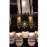 Proyecto hotelero latón personalizada lámpara colgante con cristal