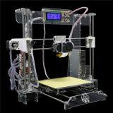 2 바탕 화면 DIY 3D 인쇄 기계 높은 정밀도 Fdm 투명하거나 까만 3D 인쇄 기계