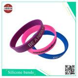 La promotion de l'événement Silk-Screen bracelet en silicone pour le parti d'impression