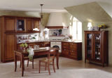 Estilo clássico em madeira armário de cozinha (W-0014)
