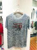 T-shirt en bonne santé fané blanc de muscle d'impression floral de Geo dans des vêtements de l'homme pour l'usure Fw-8656 de sport