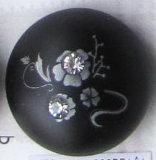 Tasto della perla della stampa del fiore (A-321E-blk-206PR)