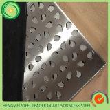 201 304 Feuille perforée en acier inoxydable pour décoration de plafond