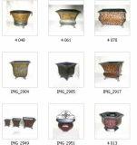 Metallblumen-Töpfe und Pflanzer-Töpfe (QLJH06-2)