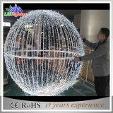Sfera calda dell'indicatore luminoso di motivo di natale 3D della decorazione LED di festa di vendita