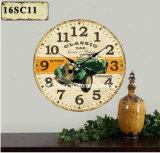 Vintage украшения старинных зеленый старой проектирования автомобилей MDF деревянные таблички бумаги для печати Настенные часы