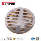 O bronze Nenhum-Calafeta o dreno do chuveiro com o filtro do aço inoxidável, 2-Inch