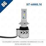 Linterna caliente de RoHS 8g H7 LED del Ce del CREE Xhp50 6000lm 35W de la venta de Lmusonu arriba brillante