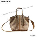 Neues Form-Gewebe und PU kontrastieren beiläufige Handtaschen-langen Schultergurt mit gute Qualitätskonkurrenzfähigem Preis