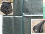 4m x 200m黒いカラーのPPによって編まれる雑草防除のマット