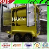 Tipo móvil de vacío de aceite del transformador purificador con remolque (1800L / H)