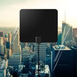 HDTV 1080p Digtial antena de televisión plana de 50 millas de rango alto Amplificador de ganancia
