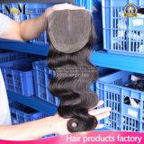 Preiswerter Großhandelspreis hohes Qulaity 8A brasilianisches Webart-Haar 3 Teil Spitze-Schliessen-