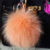 fourrure colorée POM Poms de porte-clés de bille de fourrure de Fox de 13cm belle