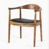 Presidenza di legno del corno della mucca del ristorante con lo schienale ed il bracciolo