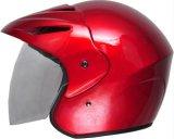 Шлем открытой стороны шлема 3/4 мотоцикла половинный с полным забралом защитной маски