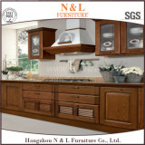 Module de cuisine fait sur commande en bois en bois solide d'érable de meubles de maison de type de doublure