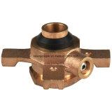 Medidor de agua de la válvula de bola de bronce