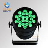 단계 빛 Evernt 사운드 시스템을%s Powercon를 가진 Rasha 높은 광도 24LEDs*15W 5in1 Rgbaw DMX LED 동위 빛