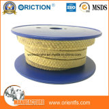 Embalagem de PTFE trançada em fibra de aramida Kevlar PTFE Gaxeta de Vedação