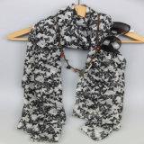 Sciarpa del poliestere di stampa per l'agente di Yiwu dell'accessorio di modo degli scialli di inverno delle donne
