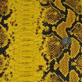 Couro artificial do plutônio da grão colorida da serpente para sapatas, sacos, vestuário, decoração (HS-Y83)