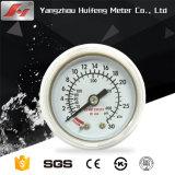 De 4 polegadas de alta qualidade de aço inoxidável inferior Milibar Biogás Manómetro