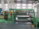 Plato de pesado automático de alta precisión de la línea de rebobinado de corte longitudinal la máquina