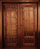 Puerta doble de madera sólida (DS-421)
