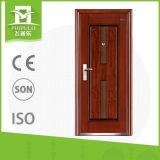 Puerta de entrada del diseño de la puerta del tubo del hierro del precio bajo