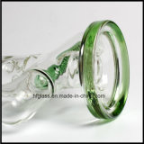 Hfy 유리 녹색 인라인 Perc 및 위드 녹색 둥근 기본적인 관을%s 가진 유리제 연기가 나는 관 11.5 인치 Illadelph 최고 질