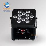 12LEDs*10W 4in1 RGBWの電池式の段階LEDの同価ライト