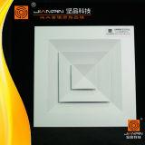 De vierkante Verspreider van de Lucht van het Plafond met Demper in Ventilatie
