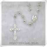 Het godsdienstige Lege Metaal parelt Rozentuinen met Maagdelijke Mary Connector en Kruis (iO-Cr379)