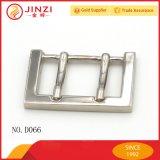 Boucle de ceinture en métal rectangulaire Barre de talon à barre double avec haute qualité