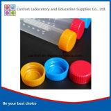 Tubo centrifugo inferiore rotondo medico dei rifornimenti 10ml con la graduazione ed il coperchio a vite