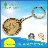 Keychain di timbratura d'ottone puro con la doratura elettrolitica antica